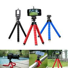 Mini Flexible Tripod Mobile Phone Stand Holder Mold For Iphone Camera Video red