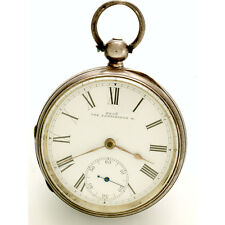 18 Size Sterling Silver Case Waltham Pocket Watch CA1890s