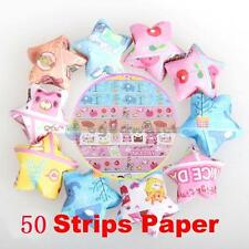 1Bag 50 Strips Mix-Colors Folding Kit Lucky Wish Star Origami Ribbon Paper Craft