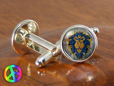 World of Warcraft Alliance Video Game Gamer Gaming Mens Gift Cufflinks