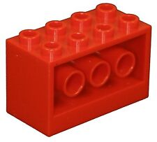 Missing Lego Brick 6061 Red Brick 2 x 4 x 2 with Holes on Sides