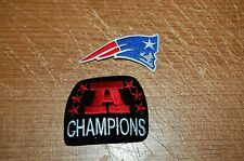 "New England Patriots 2 3/4"" Logo Patch & AFC Champions Patch Football"