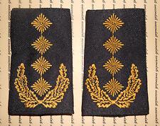 Spalla sportelli rango cinghie esercito generale Oro Nero Army NUOVO # f1871
