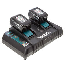 Makita DC18RD LXT twin port rapid charger + USB 230v + 2 BL1850 Batteries 5.0ah