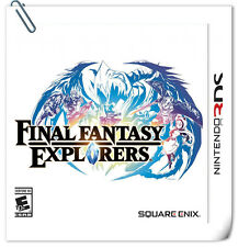 3DS Nintendo Games Final Fantasy Explorers RPG Square Enix