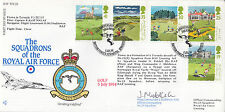 AF FDC22 1994  Full set  Golf  stamps Flown in Tornado Signed Officer Commanding
