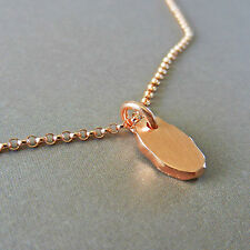 14k Rose Gold Filled Silver Nugget Pebble Oval Charm Chain Necklace U&C Sundance