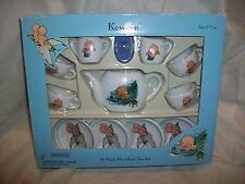 Schylling  Kewpie Mermaid 13 Piece Porcelain Tea Set Play Dragonfly New in Box