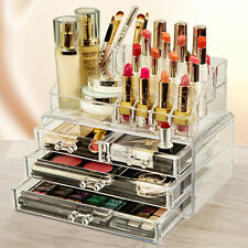 Makeup Organizer Cosmetic Jewelry Box Storage Holder Case Display 2 Pieces Set