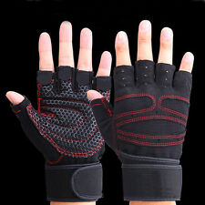 NEW Weight lifting Gym Gloves Training Wrist Wrap Workout Exercise Sports Size L