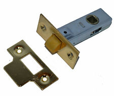 """Polished Brass Reversible Heavy Duty Tubular Latch 63mm - 2-1/2"""" SPECIAL OFFER"""