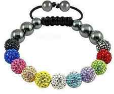 4pcs/lot 10mm 11 ball men disco women mixed Beads Crystal Shamballa Bracelet