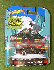 MATTEL HOT WHEELS 2016 RERTO ENTERTAINMENT 1:64th SCALE TV SERIES BATMOBILE