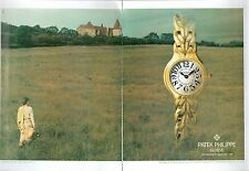 ▬► PUBLICITE ADVERTISING AD MONTRE WATCH patek philippe 2 PAGES 1994 flamme dame