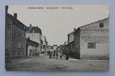 Chateau-Salins - Solvaystrasse - Rue Solvay,  Ansichtkarte, um 1900