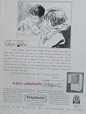 PUBLICITE FRIGIDAIRE FRIGO LETTRE CHER TOTO RIQUET ENFANTS DE 1930 FRENCH AD