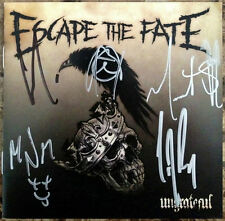 ESCAPE THE FATE Ungrateful Ltd Ed Hand Signed By All 5 CD Booklet +FREE Stickers