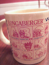 Longaberger Cup Mug Alphabet All American Apples Basket Bee Country Critters New