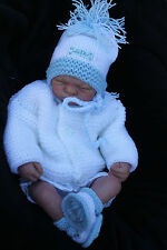 KNITTING PATTERN for  jacket, hat boots. size  nb to 12m dk PATTERN ONLY