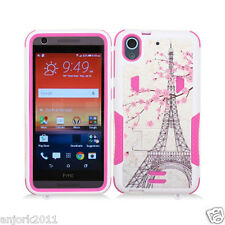 For HTC Desire 626 / 626s / 530 Hybrid Case w/Stand Skin Cover Eiffel Tower