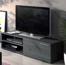 Liona TV Unit Living Room Furniture Module 1 Door 2 Shelves Grey Ash Melamine