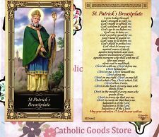 St Patrick with St Patrick's Breastplate - Glossy Paperstock Holy Card