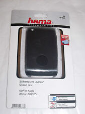 Hama104507 Silicon Black Cover Apple iPhone 3G 3GS + display Protector + cloth