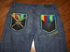 MENS COOGIE DENIM JEANS BIRD GOLD CROSSED SWORDS SIZE WAIST 40 INSEAM 32 AWESOME