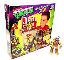 Teenage Mutant Turtle desplegable en el Conjunto de juego Juguete + Caja de la pizza Figura de Acción LOTE St