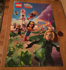 "LEGO DC Super Hero Girls Poster Double Sided 17"" NYCC 2016 NEW Wonder Woman +"