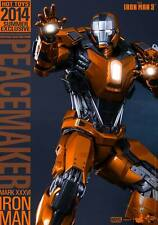 Hot Toys Peacemaker Iron Man 3 Mark XXXVI MK 36 MMS258 Sideshow Exclusive NRFB!