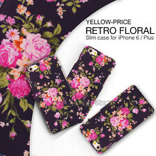 iPhone 6S+Plus Case Fashion Girl&Women Gift Case Matte Floral 3D Vintage Flower