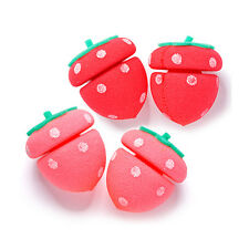 [ETUDE HOUSE] My Beauty Tool Strawberry Sponge Hair Curlers - 1pack (4pcs)