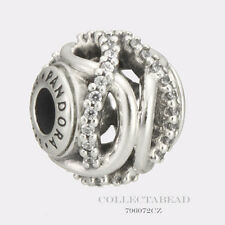 Authentic Pandora Essence Collection Silver Caring Clear CZ Bead 796072CZ