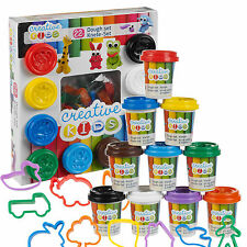 22 Piece Play Dough Craft Gift Set Tubs & Shapes Children Toys Xmas Hobby