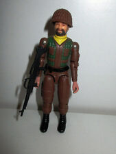 ANCIENNE FIGURINE STYLE GI JOE - LANARD TENUE MARRON (9,5x4cm)