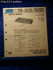 Sony Service Manual XM 3020 / 3020S Power Amplifier (#2810)
