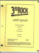 """3RD ROCK FROM THE SUN show script """"Dial M For Dick"""""""