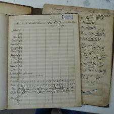 orchestra score & parts MOSAIK : DIE WALKURE wagner - laube , handwritten antiqu