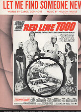 Let Me Find Someone New  sheet music from film RED LINE 7000 ('65) 4 pages (NM)