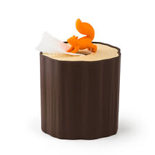 Qualy squirrel log tissue box cover toilet paper holder