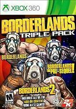 Borderlands Triple Pack FUN Brand New Factory Sealed Free SH! Microsoft Xbox 360