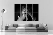 COMBAT HANDS FIGHTING Wall Art Poster Grand format A0 Large Print