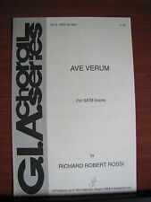 Ave Verum - 2002 Gospel sheet music- SATB Vocal - Christian - by Rossi