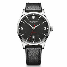 New Victorinox  Swiss Army 241668 Mens Alliance Mechanical Black Dial Watch NWT