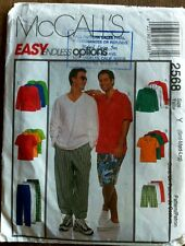 McCall's Men's Shirt + Pants Sewing Pattern style 2568 craft sew DIY man costume