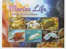 Bequia of St. Vincent - Marine Life, Mollusks of the Caribbean - Sheet of 6 MNH