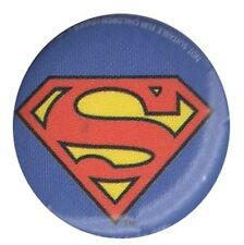Official DC Comics Superman Shield Logo 1 inch button pin badge