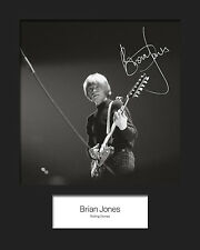 BRIAN JONES #1 (Rolling Stones) Signed 10x8 Mounted Photo Print - FREE DELIVERY