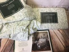 New Laura Ashley Home Twin Sheet Set Flat & Fitted in Cottage Rose Read Descrip